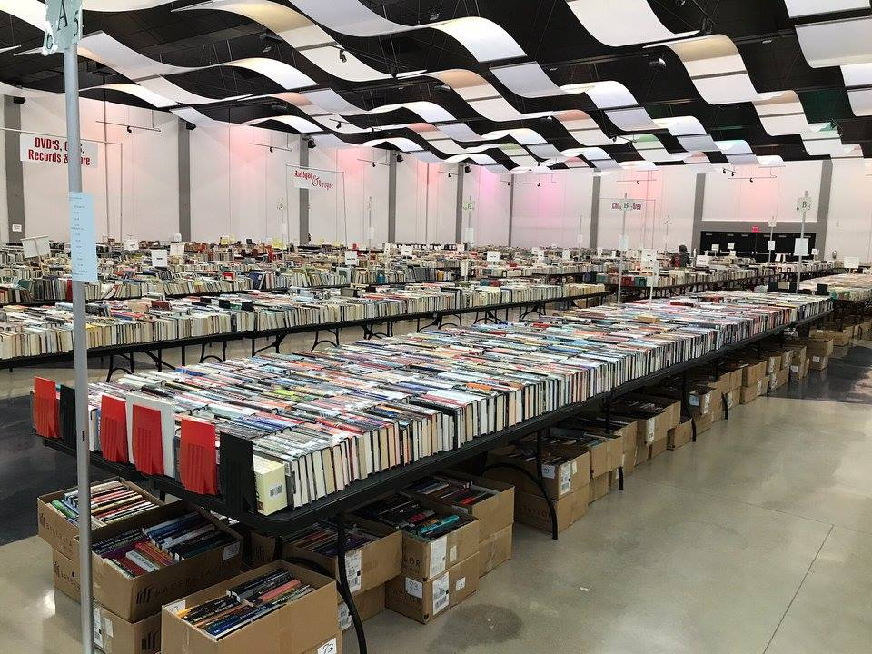 Civic Center Filled with Books for Sale
